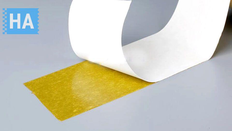 Băng keo 2 mặt vàng có độ dính cực kì cao