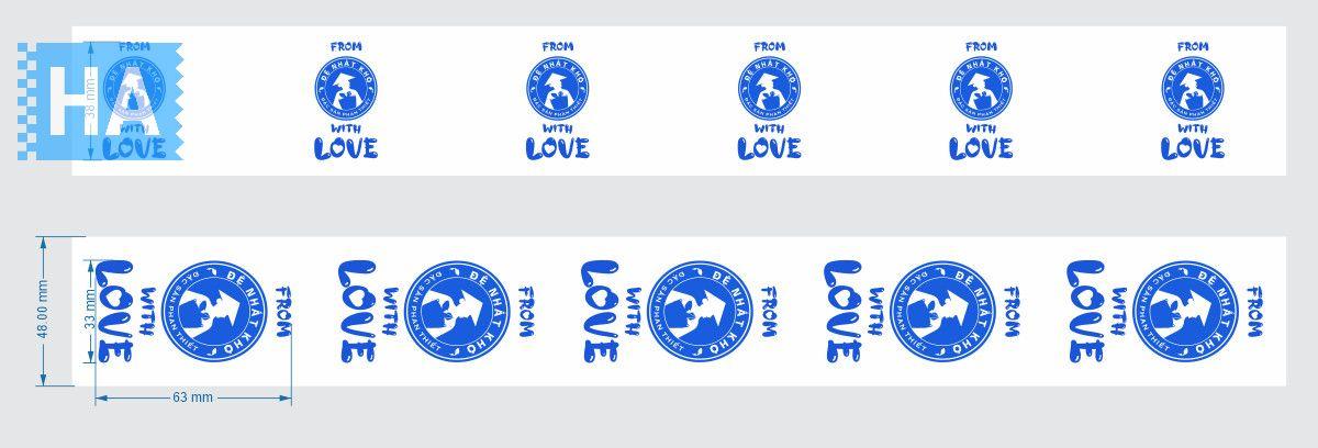 Băng keo in logo thương hiệu Đệ Nhất Khô